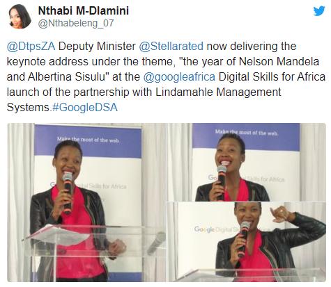 Minister Ndabeni-Abrahams launches Lindamahle and Google Partnership.